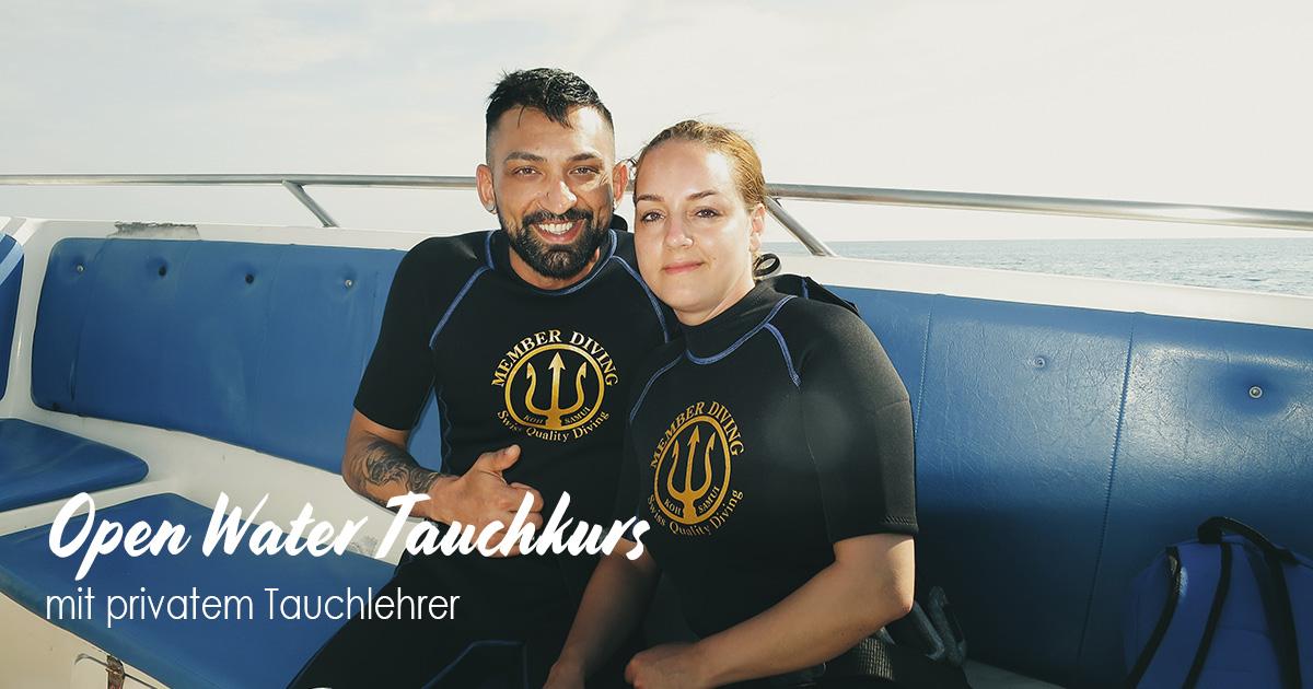 Open Water Tauchkurs mit Member Diving – mit privatem Tauchlehrer?