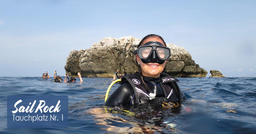 Sail Rock Tauchplatz Nr 1 im Golf von Thailand