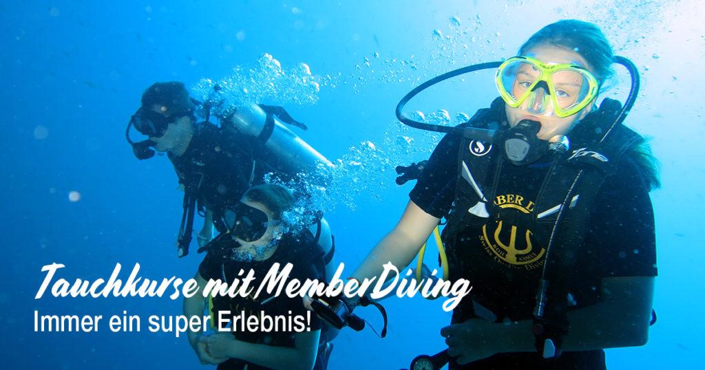 Tauchkurse mit Member Diving - Immer ein super Erlebnis
