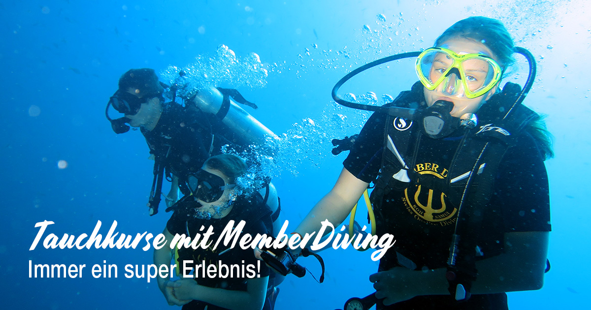 Tauchkurse mit Member Diving – Immer eine super Erlebnis