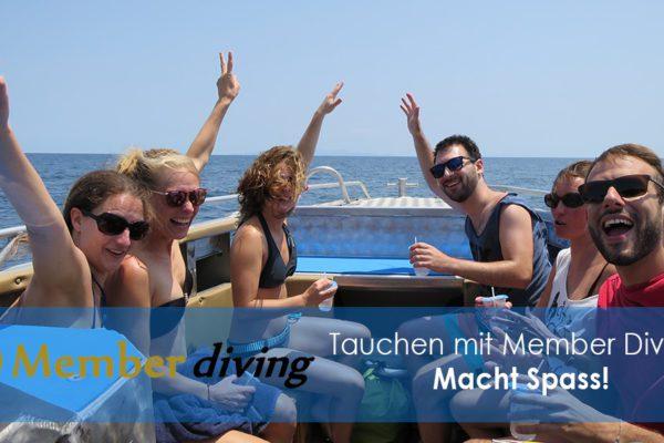 Tauchkurse und Tauchausflug mit Member Diving