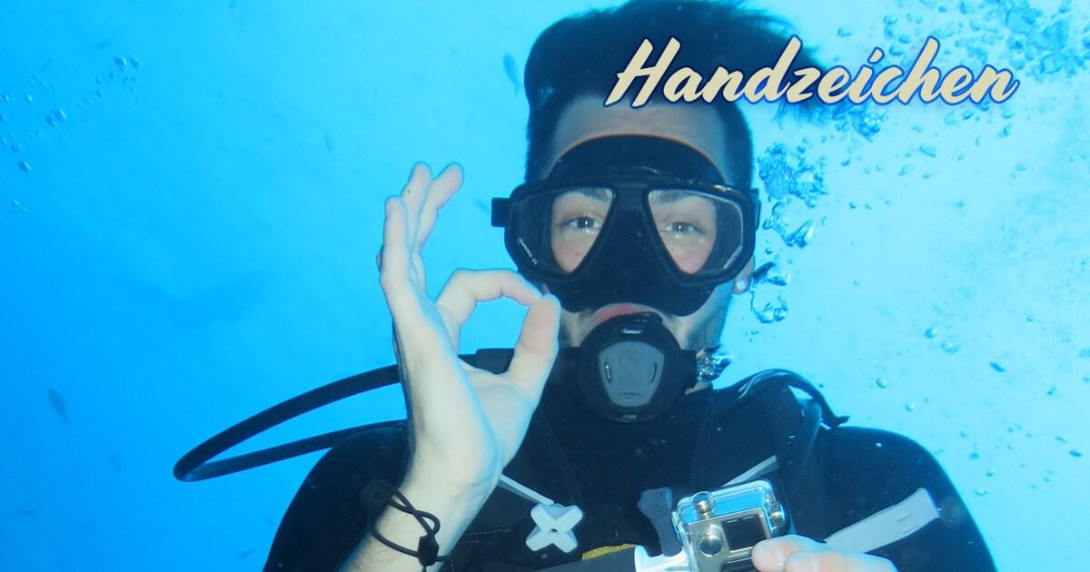 Handzeichen / Tauchzeichen