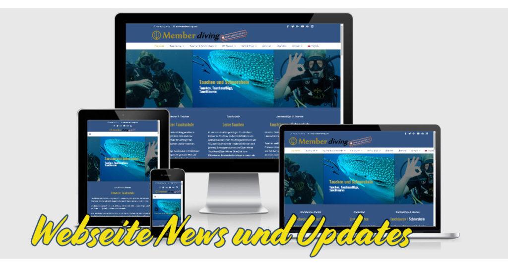 Webseite News und Updates