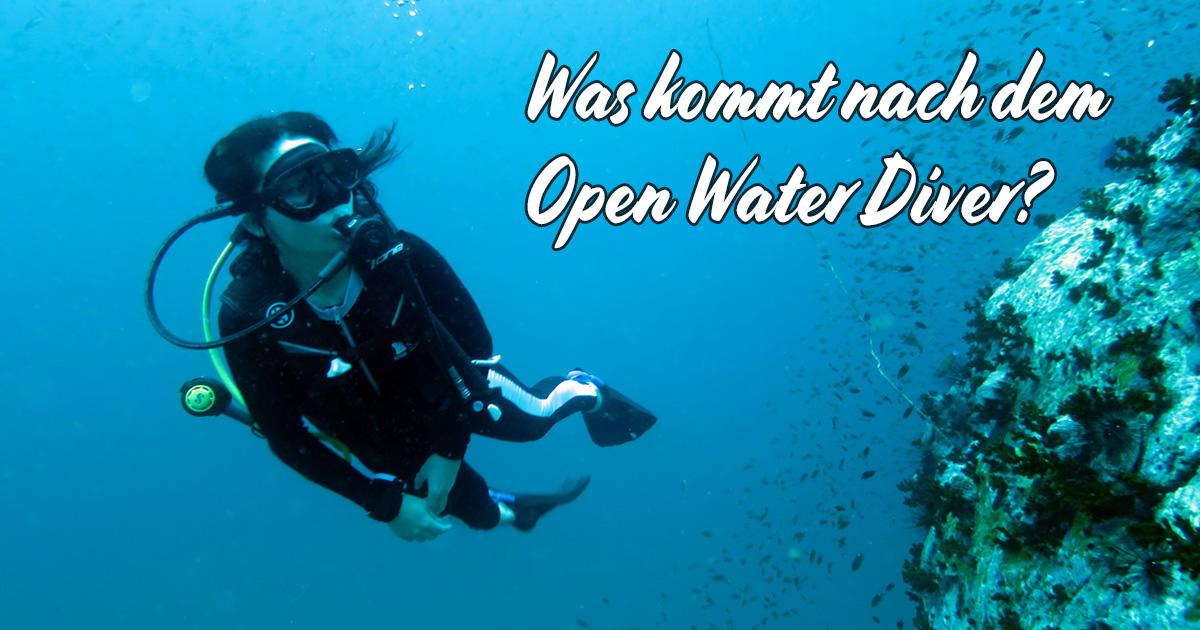 Was kommt nach dem Open Water Diver?