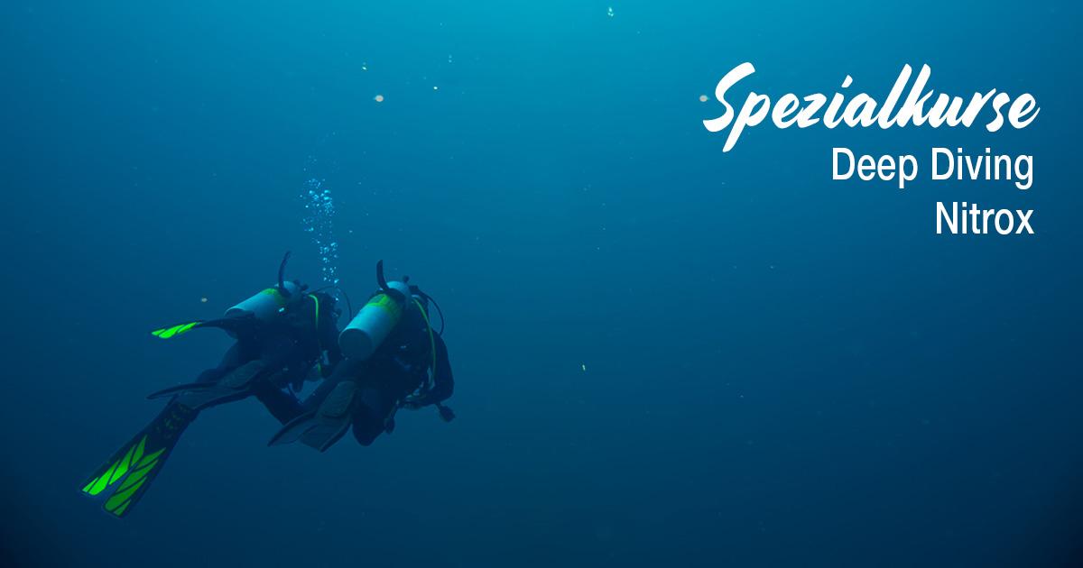 Spezialkurse – Deep Diving und Nitrox
