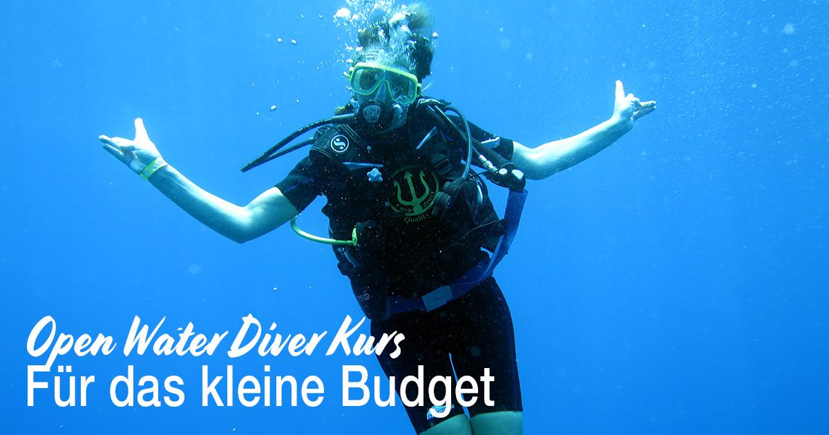 Open Water Diver Kurs für das kleine Budget