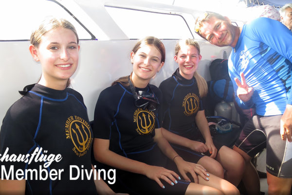 Tauchausflüge und Tauchkurse mit Member Diving